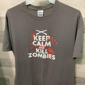 Keep Calm and Kill Zombies Printed Tee
